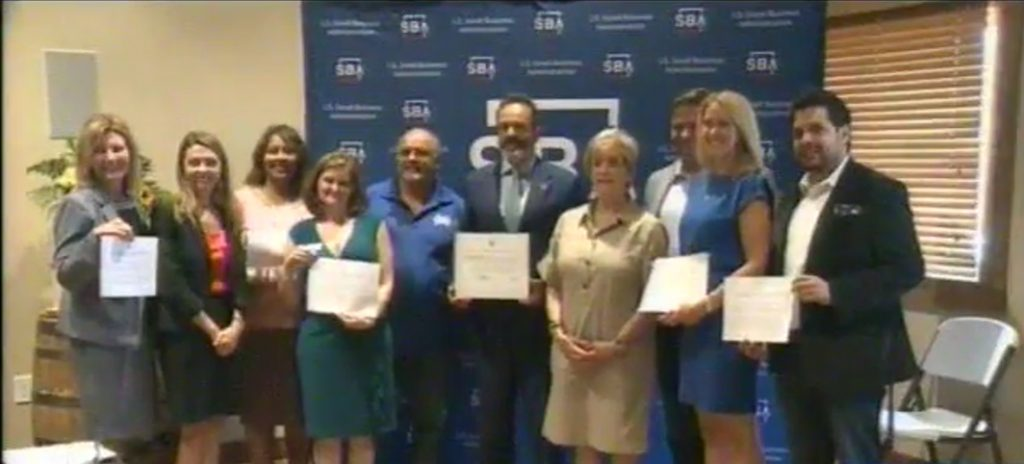 Pictured are the small businesses that signed the Pledge to America's Workers along with KY Governor Matt Bevin and SBA Administrator Linda McMahon