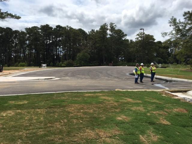 paved lot