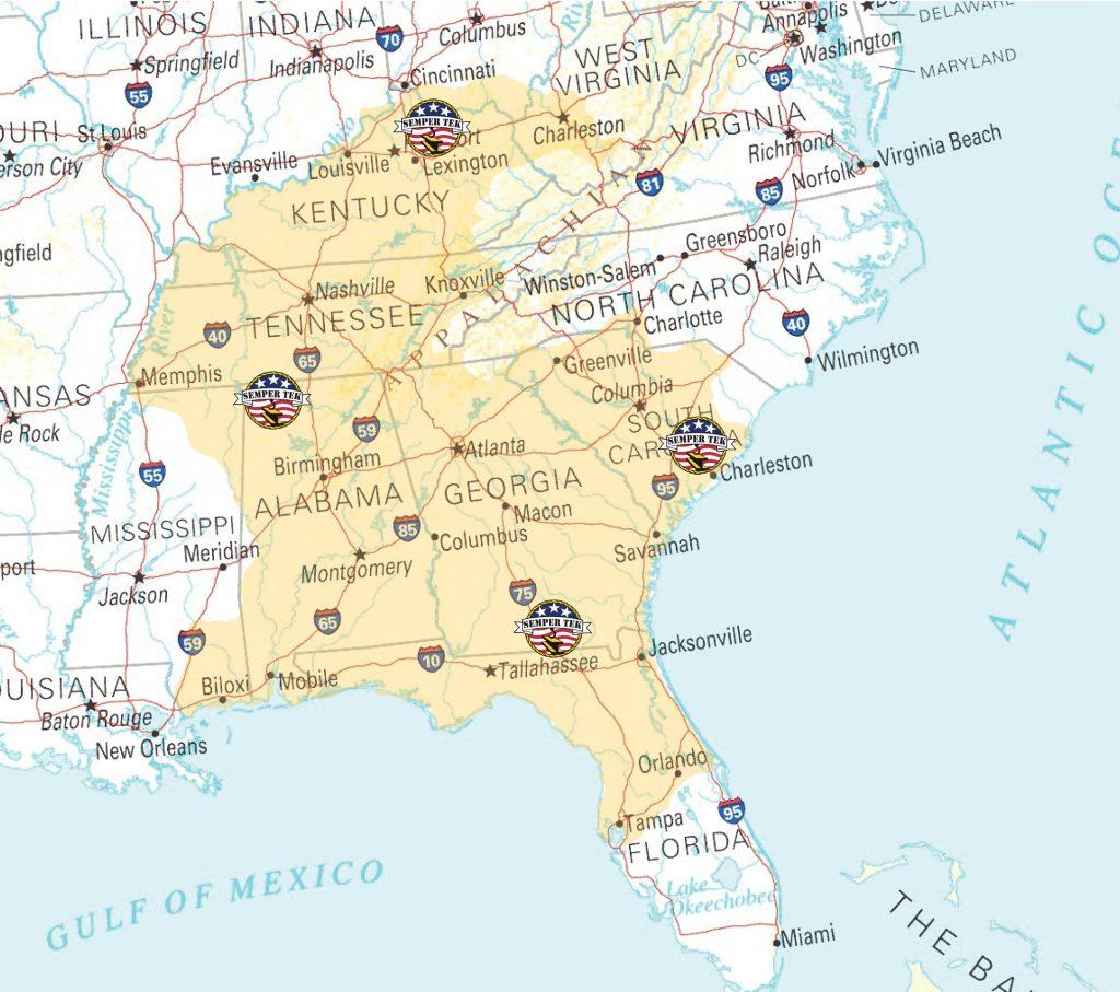 STI Coverage Map